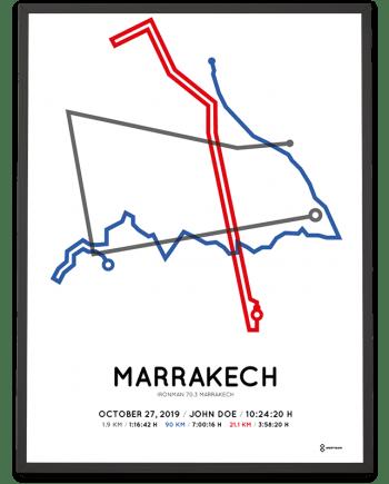 2019 Ironman 70.3 Marrakech parcous poster