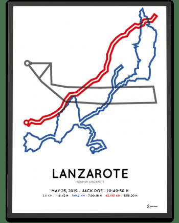 2019 Ironman Lanzarote parcours print