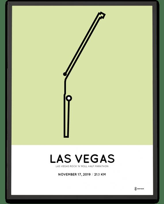 2019 Las Vegas half marathon course poster