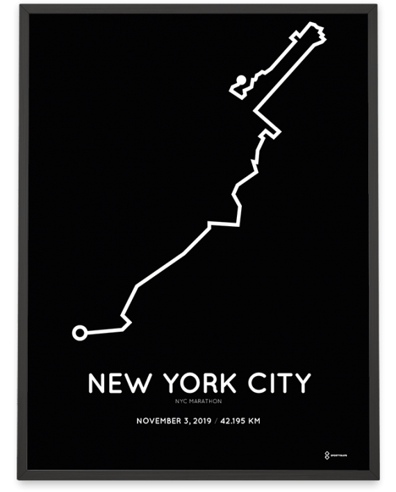 2019 NYC marathon course poster