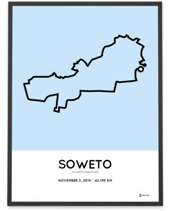 2019 Soweto marathon routemap print