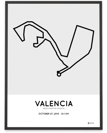 2019 Media maraton Valencia course poster