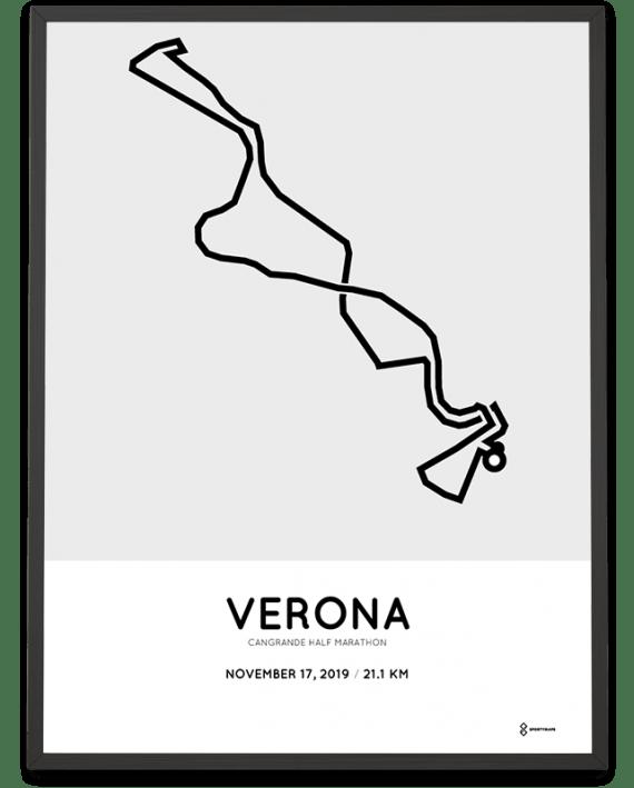 2019 Verona half marathon course poster
