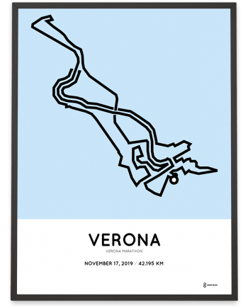 2019 Verona marathon course sportymaps poster
