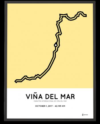2019 Vina del mar marathon course poster