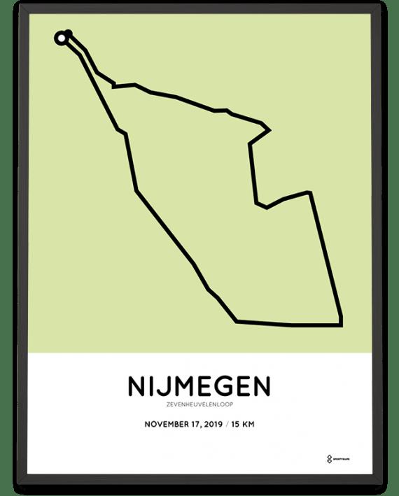 2019 Zevenheuvelenloop route poster