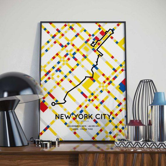 2019 NYC Marathon Special Edition course poster