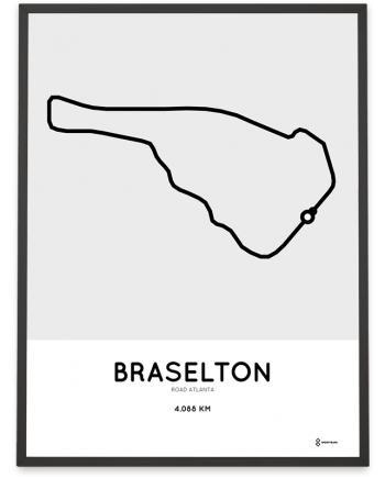 Road Atlanta Racetrack course poster