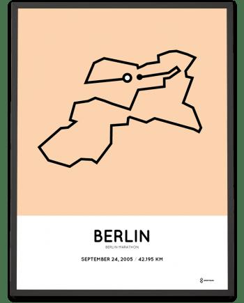 2005 Berlin marathon strecke poster