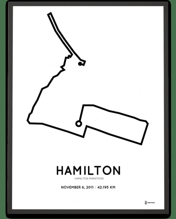 2011 Hamilton marathonermap print