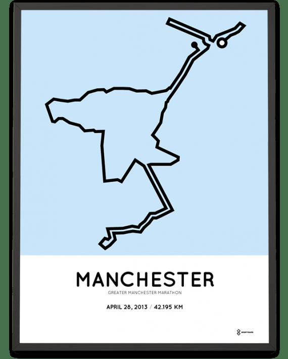 2013 Manchester marathon course poster