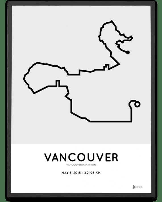 2015 Vancouver marathon course poster