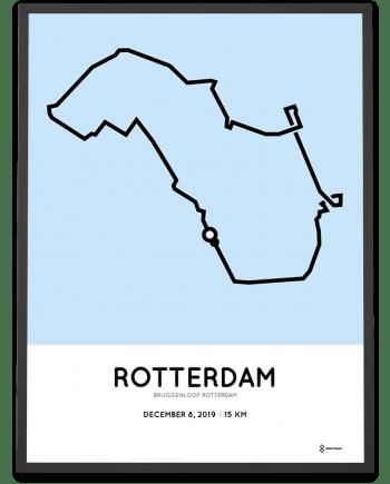 2019 Bruggenloop Rotterdam route poster Sportymaps
