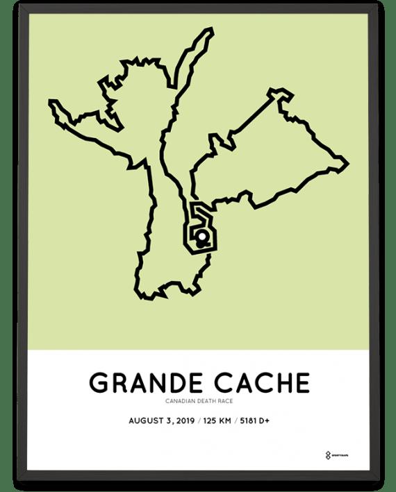 2019 Canadian Death Race 125km course poster