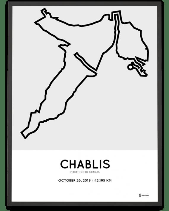 2019 marathon de Chablis parcours poster