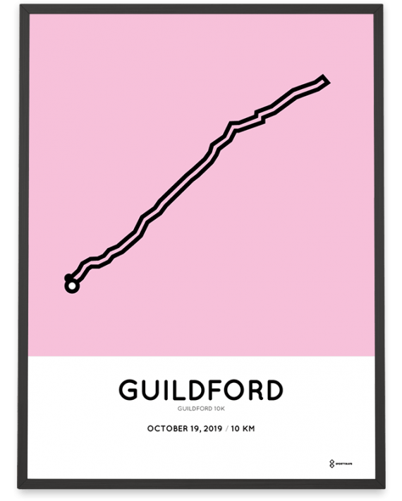 2019 Guildford 10k course poster