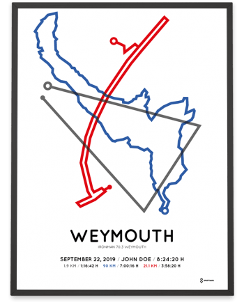 2019 Ironman 70.3 Weymouth course poster