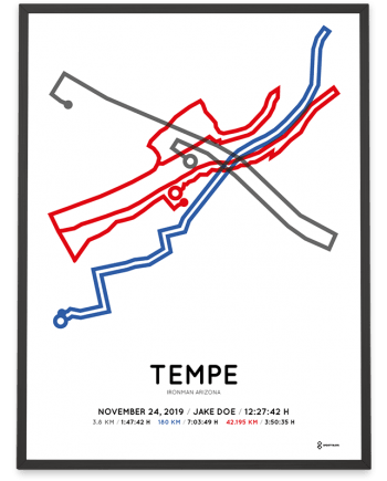 2019 Ironman Arizona Sportymaps course poster