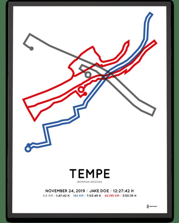 2019 Ironman Arizona Sportymaps course poster