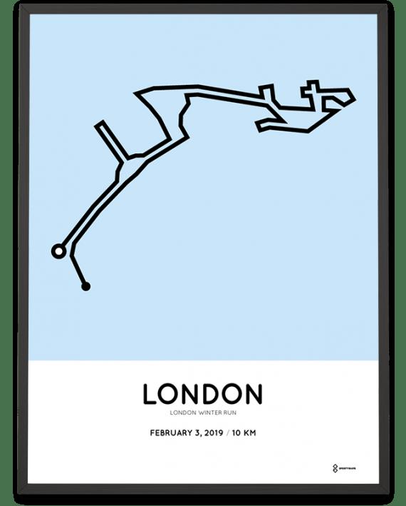 2019 London Winter Run course poster