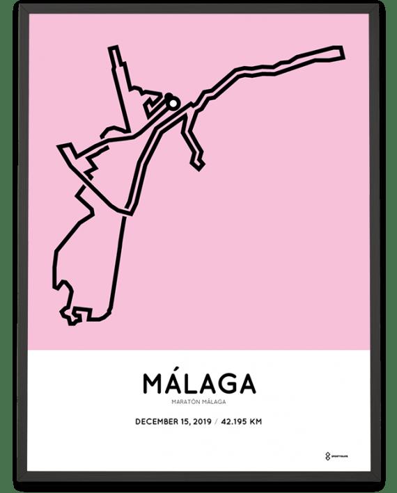 2019 Malaga marathon course poster