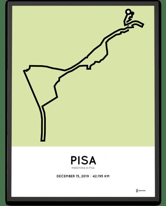 2019 maratona di Pisa course poster