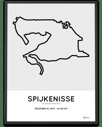 2019 Spijkenisse-SPARK marathon parcours poster