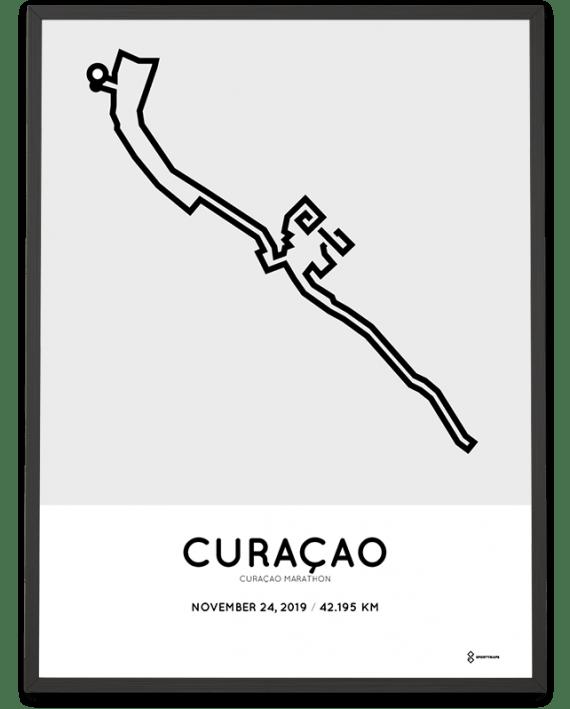 2019 curacao marathon course poster