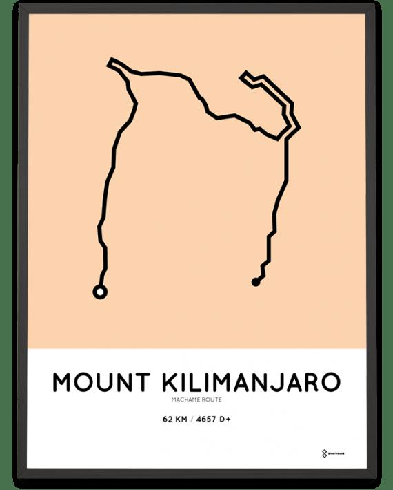 Kilimanjaro machame route print
