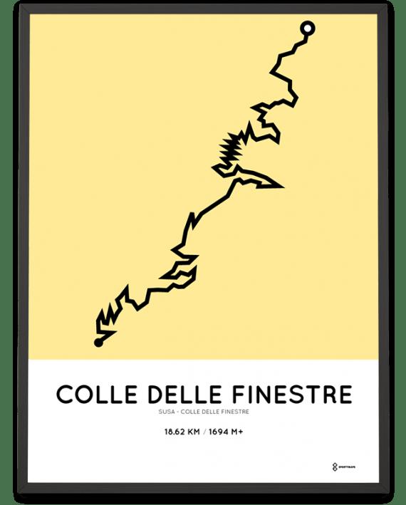 colle delle Finestre course poster