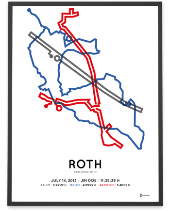 2013 Challenge Roth course poster