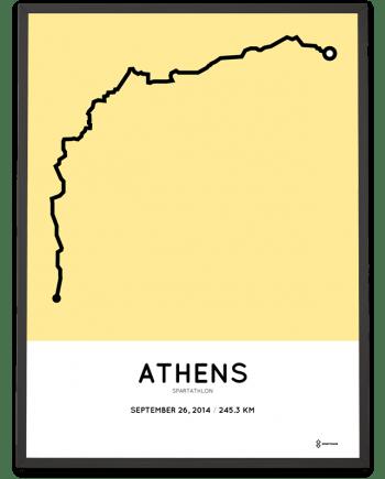 2014 Spartathlon course poster