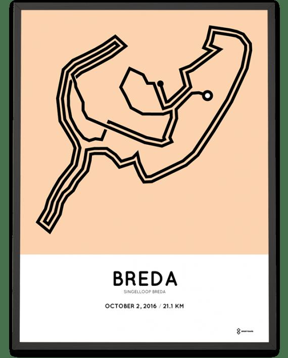 2016 Singelloop Breda parcours print
