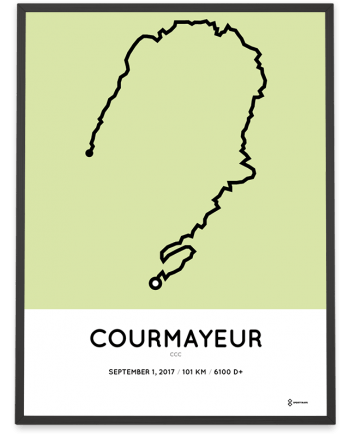 2017 CCC UTMB parcours poster