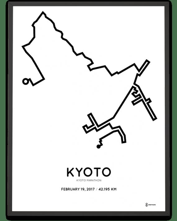 2017 Kyoto marathon routemap sportymaps print