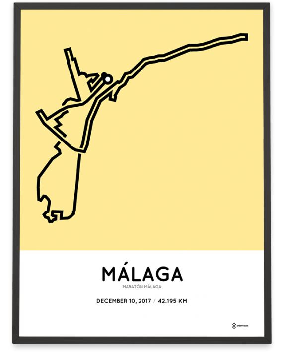 2017 Malaga Marathon course poster