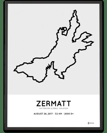2017 Matterhorn Ultraks- Mountain route poster