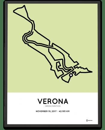 2017 Verona marathon course poster