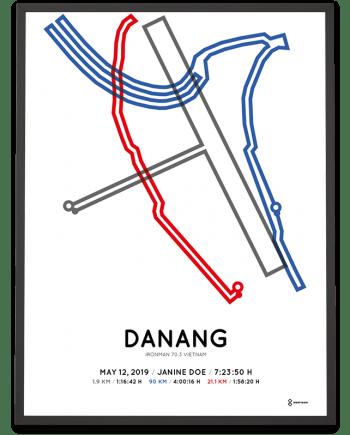 2019 Ironman 70.3 Vietnam course poster