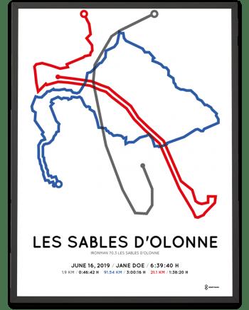2019 Ironman 70.3 les sables d'olonne course poster