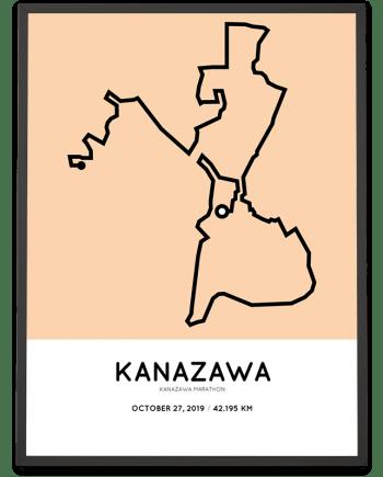 2019 Kanazawa marathon course print