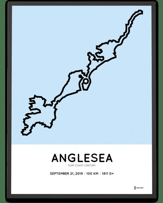 2019 Surf Coast Century course poster