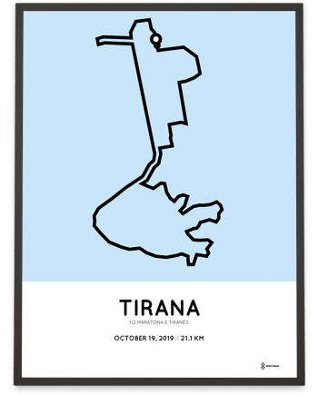 2019 Tirana half marathon course poster