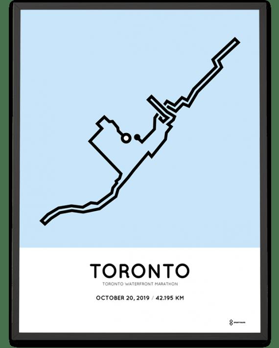 2019 Toronto Waterfront marathon course poster