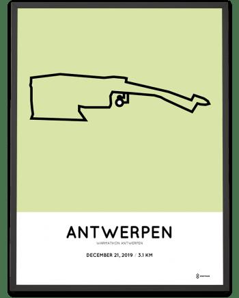 2019 Warmathon Antwerpen route poster