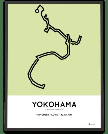 2019 Yokohama marathon course poster