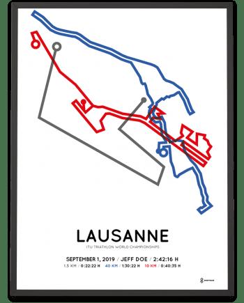 2019 ITU triahlon WC Lausanne parcours poster