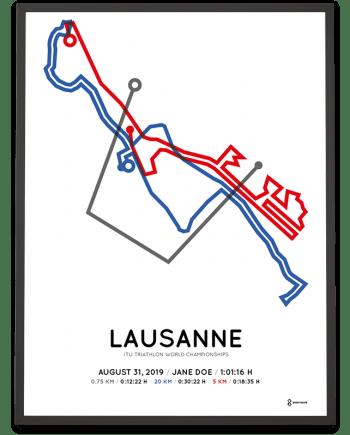2019 ITU Sprint triahlon World Championships Lausanne course poster