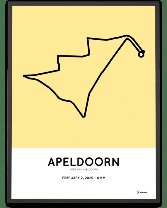 2020 Acht van Apeldoorn parcours print