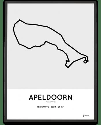 2020 Asselronde Apeldoorn route poster